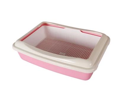 Туалет с сеткой и бортиком AnimAll A 970 41×30×12 см розовый