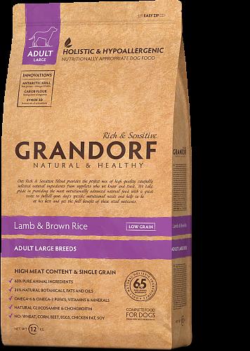 Сухой корм Grandorf Adult Large Breed для взрослых собак крупных пород с ягненком и рисом 12 кг
