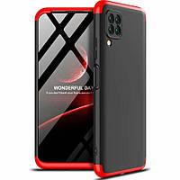 Чехол GKK 360 для Huawei P40 Lite бампер противоударный Black-Red