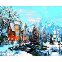 Картина рисование по номерам Babylon Морозное утро 40х50см VP1201 набор для росписи, краски, кисти, холст