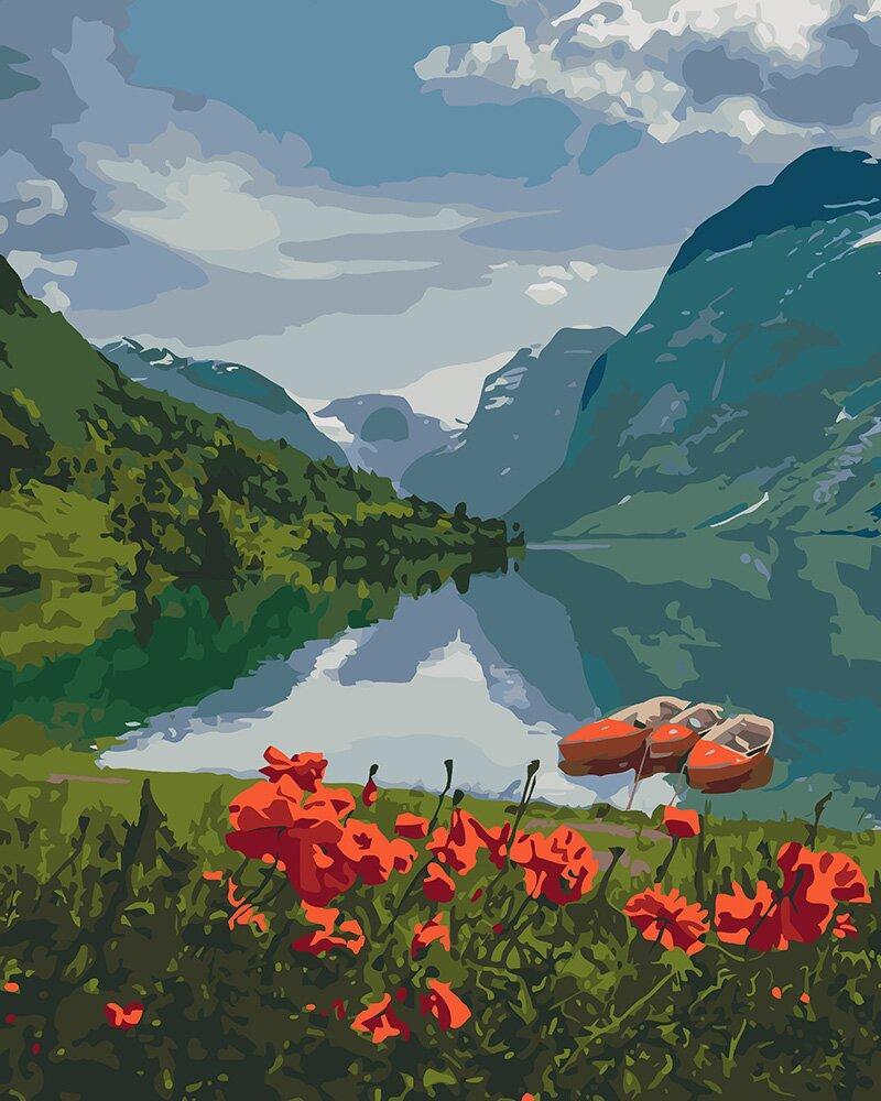 KHO2256 Набор-раскраска по номерам Красота Норвегии, В картонной коробке