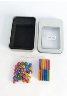 Магнитный конструктор антистресс Magnastix Neo MIX COLOR 36 шт. магнитные палочки и 28 шт. стальные шарики
