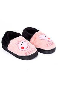 Тапочки комнатные детские светло-розовые AAA 126555P