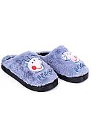 Тапочки комнатные детские голубые AAA 126550T