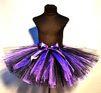 Фиолетово - черная юбка пачка