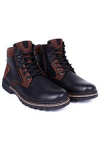 Ботинки зимние мужские черные 8983