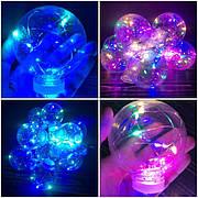 Светодиодная гирлянда лампочка лампочки Эдисона из 10 лампочек ретро лед led новогодние цветная разноцветная