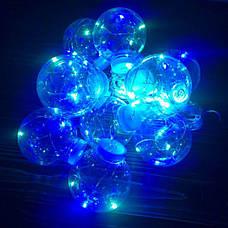 Светодиодная гирлянда лампочка лампочки Эдисона из 10 лампочек ретро лед led новогодние цветная разноцветная, фото 3