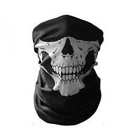 Бафф-маска с рисунком черепа - белый, фото 1