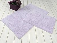 Набор ковриков для ванной хлопок 60х100+45х60  JASMINE сиреневый