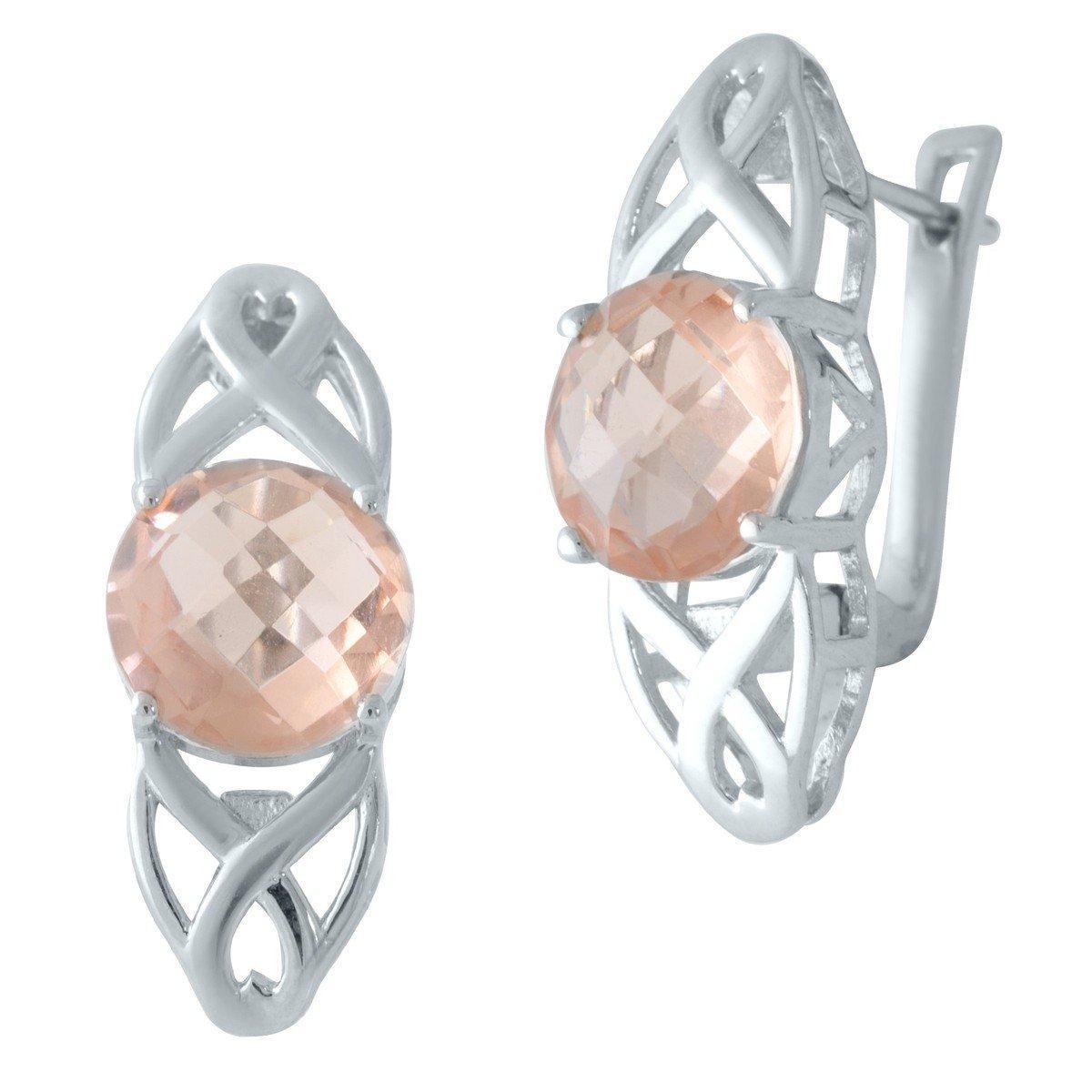 Срібні сережки DreamJewelry з морганитом nano (2003540)