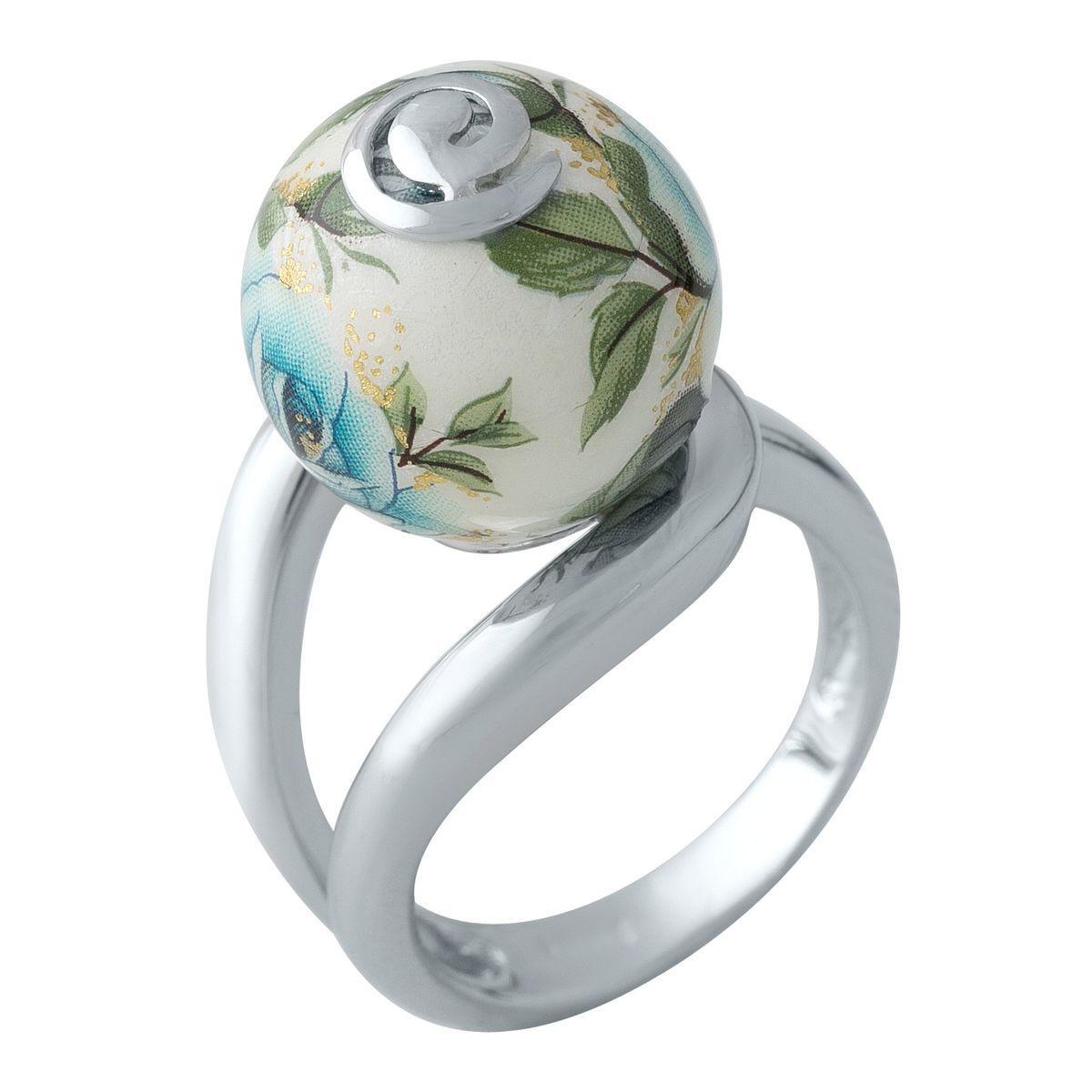Серебряное кольцо DreamJewelry с емаллю (2003892) 18 размер