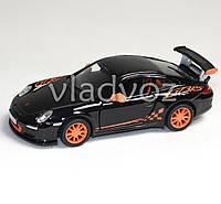 Машинка Porshe 911 GT3 RS 1:36 метал чёрная