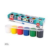 Набор красок для рисования по дереву, 6 цветов, Red Apple, краски и кисти для рисования,детские краски и кисти