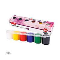Краски для рисования по ткани, 6 цветов, краски и кисти для рисования,детские краски и кисти для