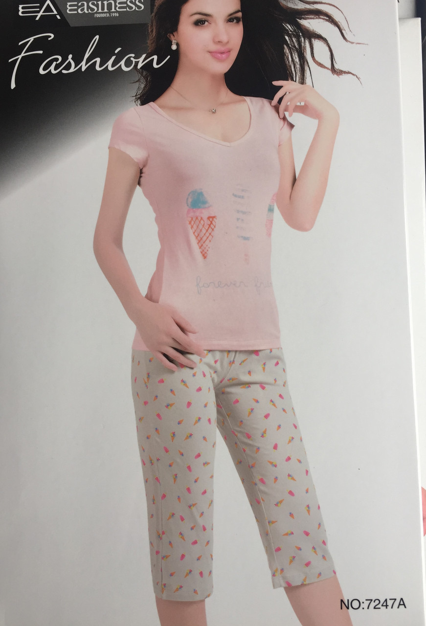 Жіночий комплект брижди і футболка арт 7247
