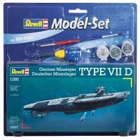 Сборная модель Revell Подводная лодка U-BoatType VII D 1:350 (65107)