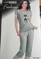 Женский комплект брижди и футболка арт 7240