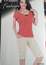 Жіночий комплект брижди і футболка арт 7249