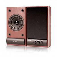 Акустическая система 2.0 F & D R-215 Cherry (2x3 W, 60-16000 Hz, подключение: RCA, сеть (220 V), Материал сате