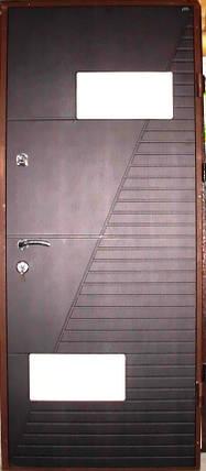 Входная дверь модель П4-700 венге темный/светлый, фото 2