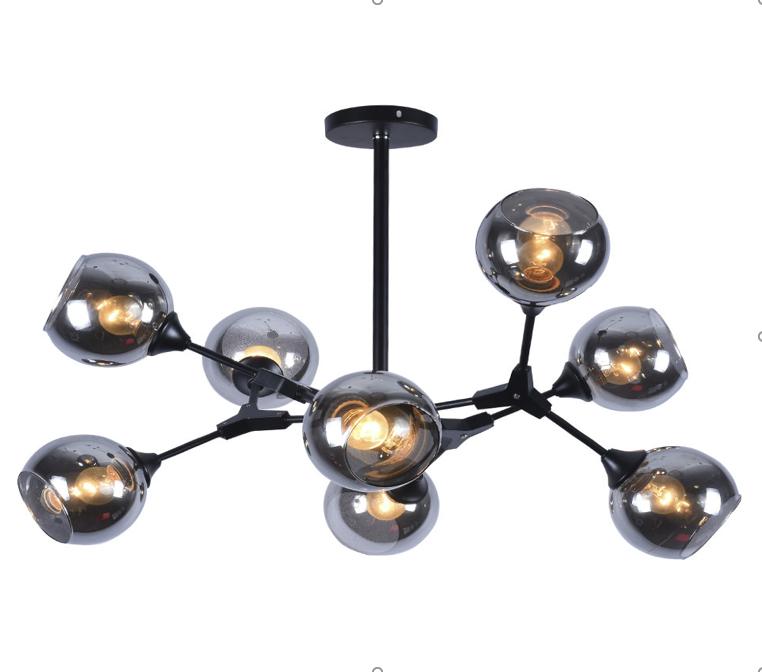 Люстра потолочная на 8 ламп молекула серая 06-S0016/8 BK