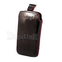 Кожаный чехол Mavis Premium для Sony St26i Xperia J / Lt18i Arc S Бордовый