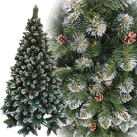 Новогодние искусственные елки с шишками