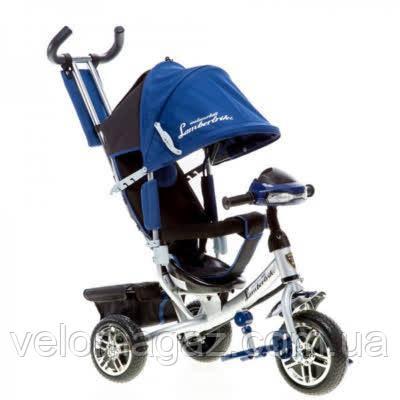Lambortrike BC-17B AIR с USB детский трехколесный велосипед Azimut 2018 DENIM, пульт ДУ