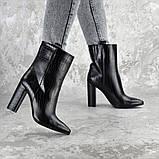 Ботинки женские на каблуке Fashion Magintey 2369 35 размер 23 см Черный, фото 4