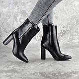 Ботинки женские на каблуке Fashion Magintey 2369 35 размер 23 см Черный, фото 7