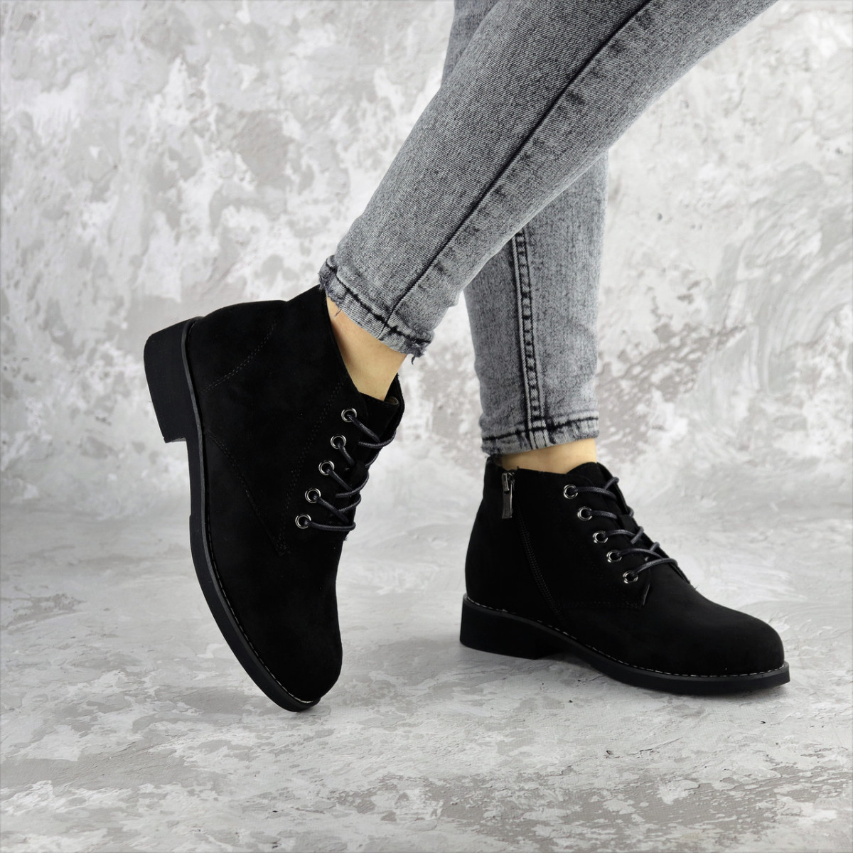 Ботинки женские Fashion Plushbottom 2382 36 размер 23,5 см Черный