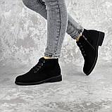 Ботинки женские Fashion Plushbottom 2382 36 размер 23,5 см Черный, фото 7