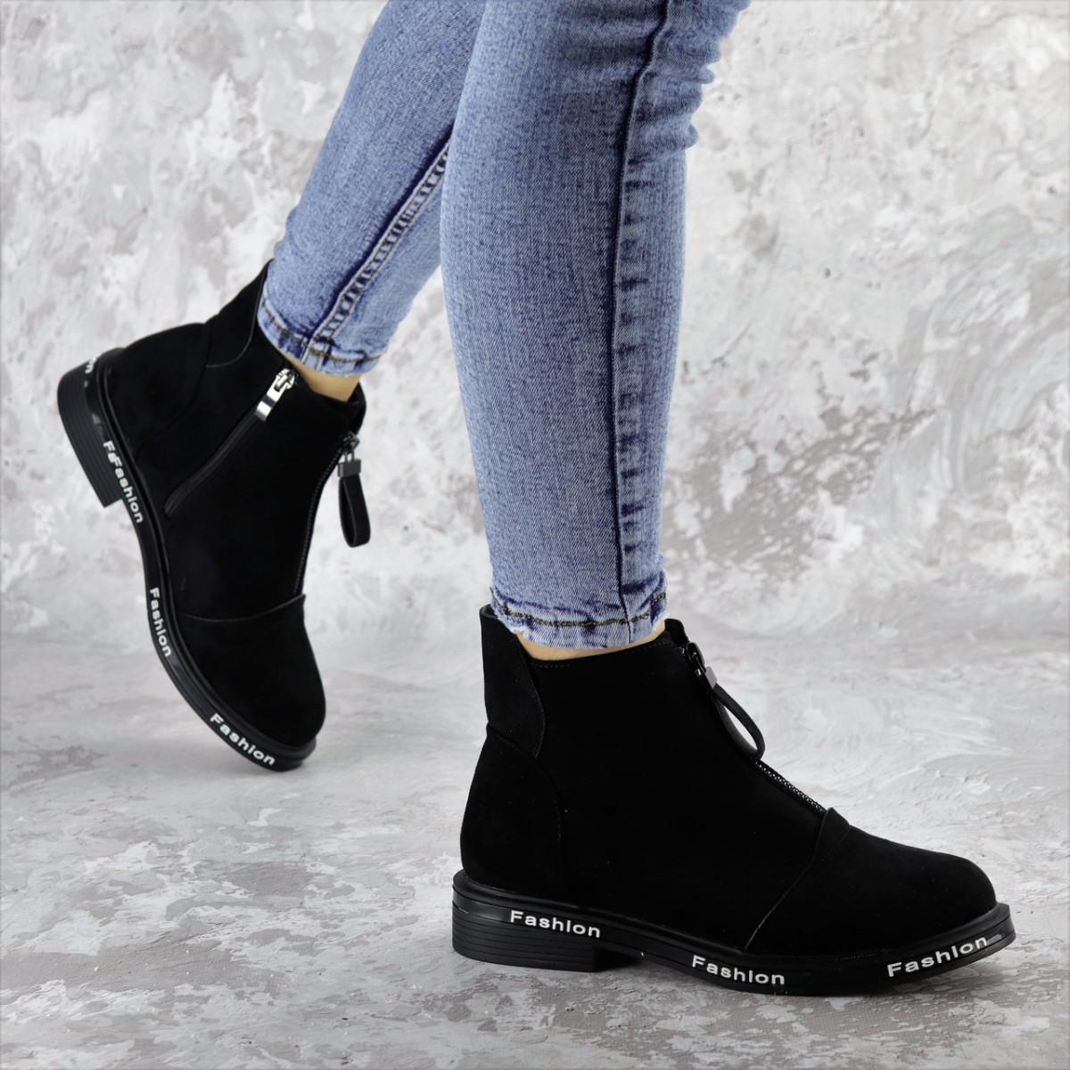 Ботинки женские Fashion Sabastian 2386 36 размер 23,5 см Черный