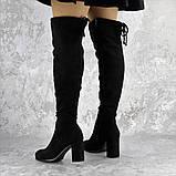 Ботфорты женские Fashion Kawii 2284 37 размер 24 см Черный, фото 4