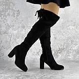 Ботфорты женские Fashion Kawii 2284 37 размер 24 см Черный, фото 5