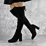 Ботфорты женские Fashion Kawii 2284 37 размер 24 см Черный, фото 7