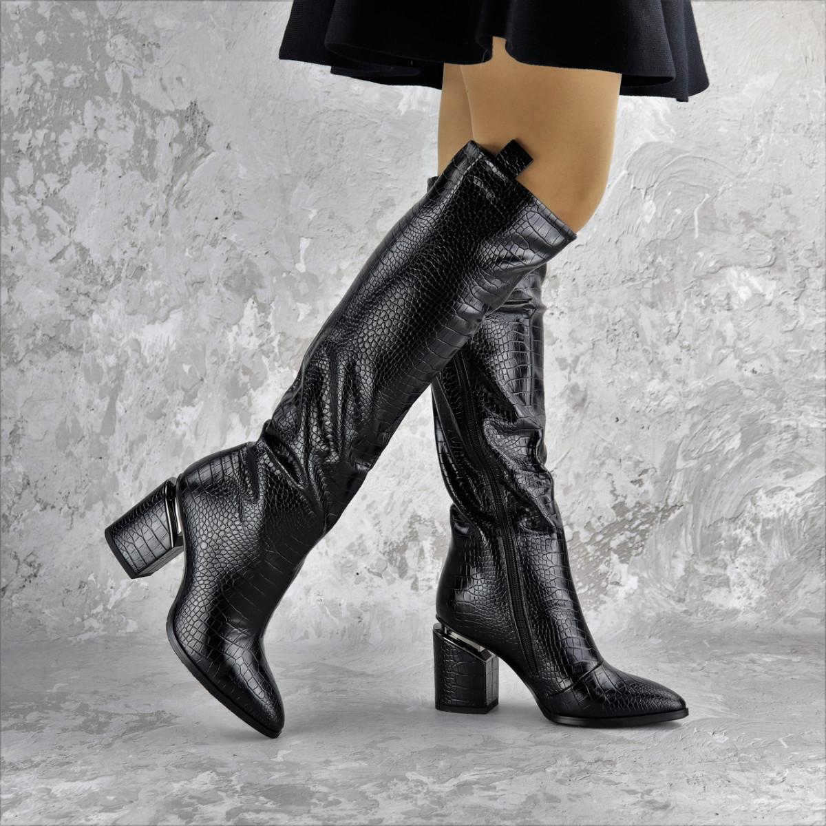 Ботфорты женские Fashion Lippy 2312 37 размер 24 см Черный
