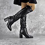 Ботфорты женские Fashion Lippy 2312 37 размер 24 см Черный, фото 5