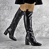 Ботфорты женские Fashion Lippy 2312 37 размер 24 см Черный, фото 6