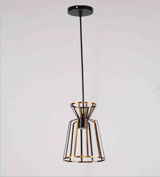 Люстра подвесная на 1 лампу 29-D288/1 BK+ZG