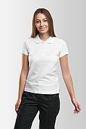 Футболка поло женская Белая, фото 7