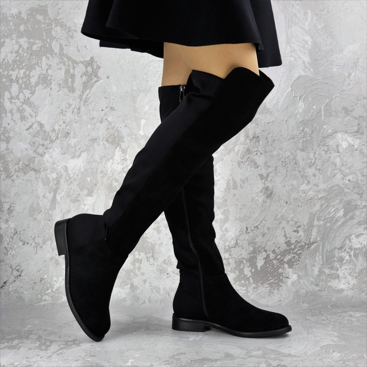Женские ботфорты Fashion Cliff 1449 37 размер 24 см Черный