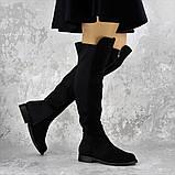 Женские ботфорты Fashion Cliff 1449 37 размер 24 см Черный, фото 4
