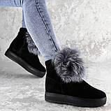 Женские зимние ботинки с мехом Fashion Loki 1358 37 размер 23,5 см Черный, фото 2