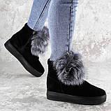 Женские зимние ботинки с мехом Fashion Loki 1358 37 размер 23,5 см Черный, фото 3
