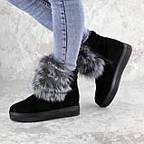 Женские зимние ботинки с мехом Fashion Loki 1358 37 размер 23,5 см Черный, фото 4