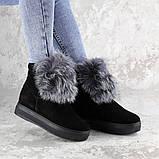 Женские зимние ботинки с мехом Fashion Loki 1358 37 размер 23,5 см Черный, фото 5