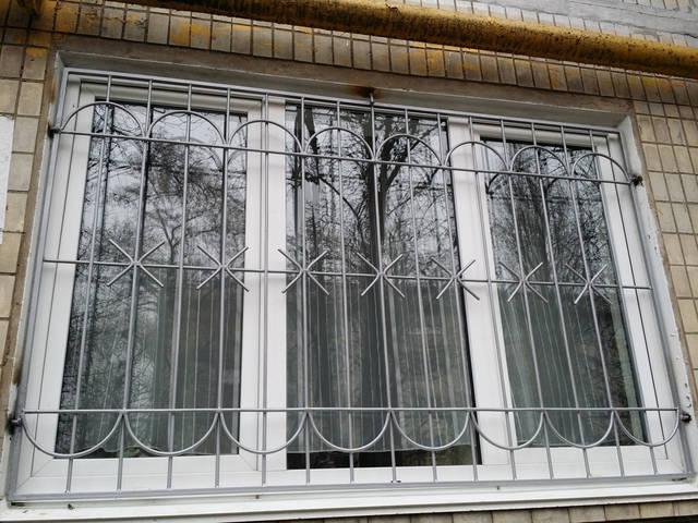 Сварные решетки на окна 1