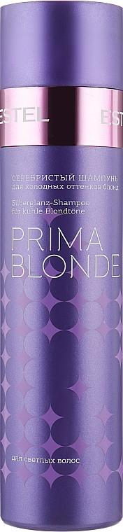 Серебристый шампунь для холодных оттенков блонд Estel Professional Prima Blonde Shampoo